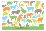 Super Safari Animal Flat Note Card