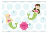Swimming Mermaids Flat Note Card