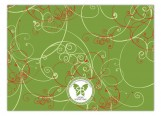 Green Christmas in Style Swirls Invitation