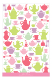 Tea Time Silhouettes Party Invitation