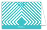 Teal Graphic Folded Note Card