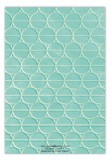 Turquoise Mod Circles Flat Note Card