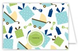 Twin Boy Carriage Gifts Folded Note Card