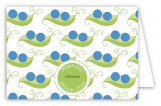 Twin Boy Peapod Folded Note Card