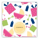 Twin Girl Carriage Gifts Gift Tag
