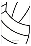 Volleyball Banner Flat Note Card