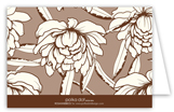 White Magnolia Folded Note Card