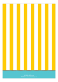 Yellow Carnival Stripes Invitation