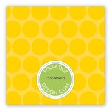 Yellow Flying Floral Gift Tag