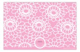 Zinnia Garden Pink Girls Birth Announcement Photo Card