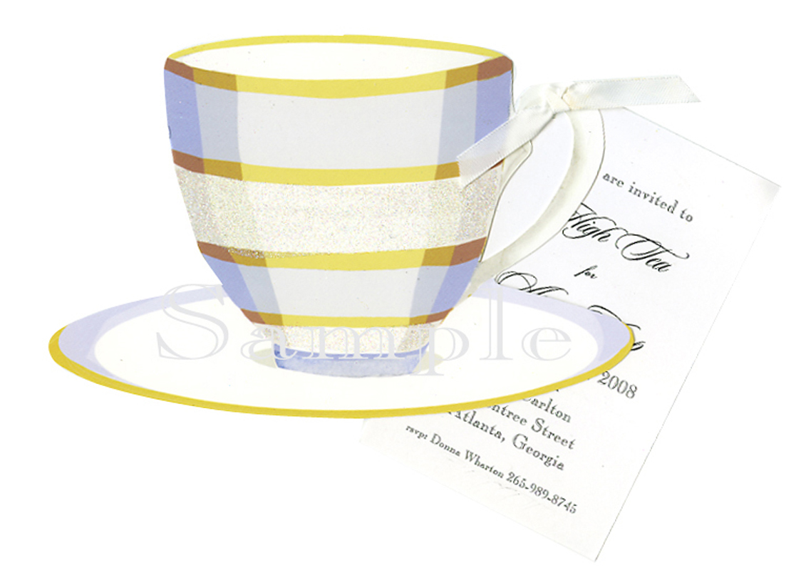 Blue and White China Cup Invitation
