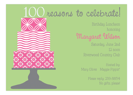 100 Candles On The Cake Invitation Picpd Np57py22011ijp