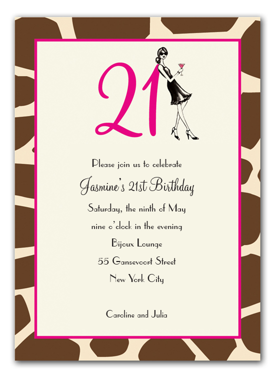 21 Birthday Invitations | wblqual.com