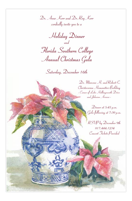 Etoile De Noel Christmas Open House Invitation Annual Christmas