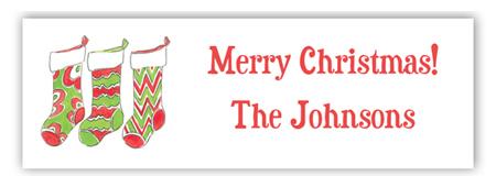 personalized christmas address label
