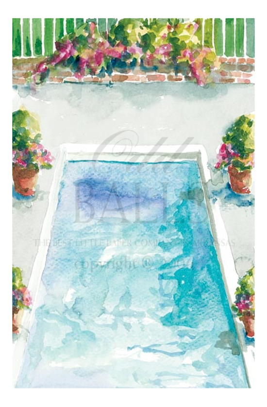 Crystal Clear Pool Party Invitation