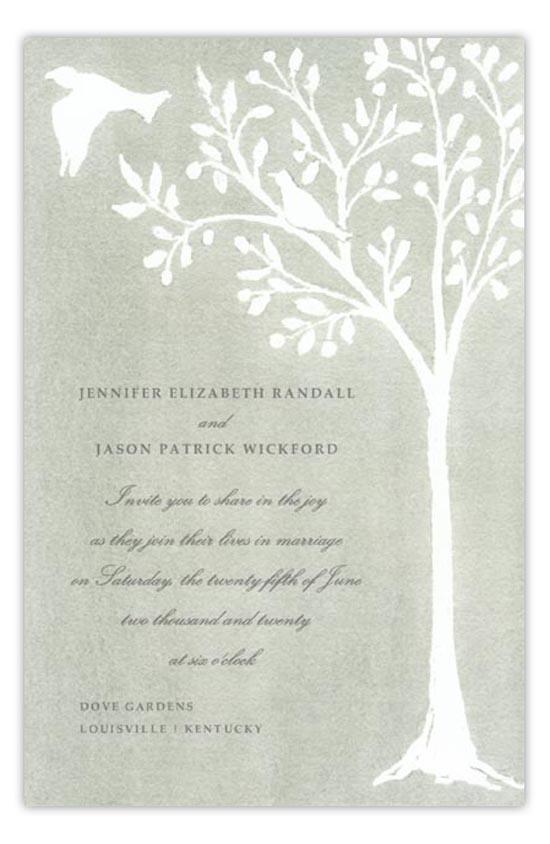 Dove Gray Wedding Invitation traditional watercolor invitations