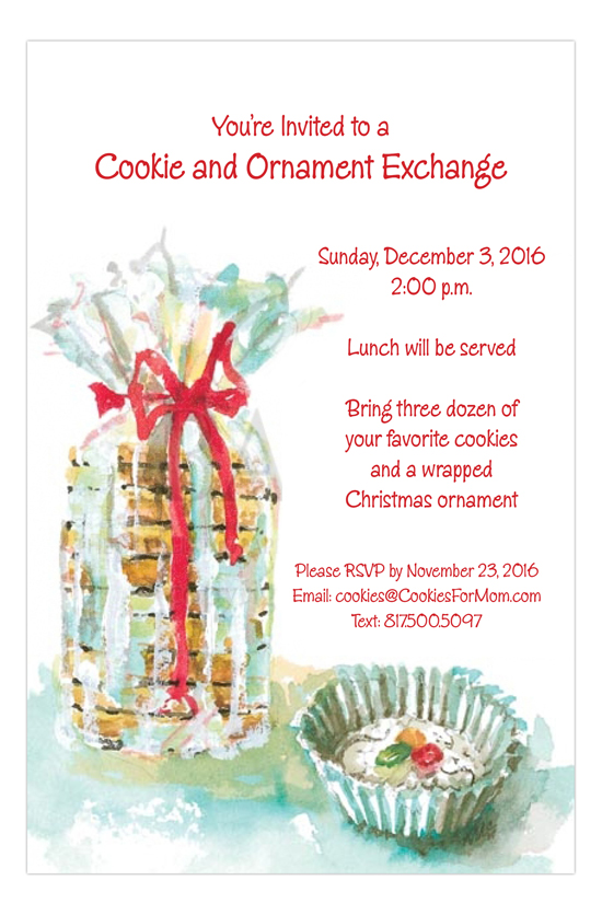 Cookies Cookies Cookies Invitation