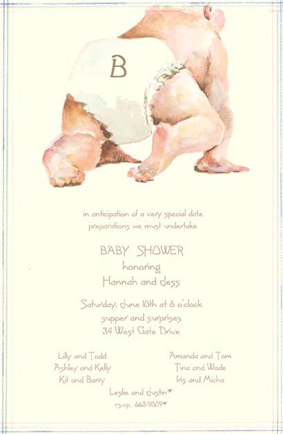 on the go baby shower invitation
