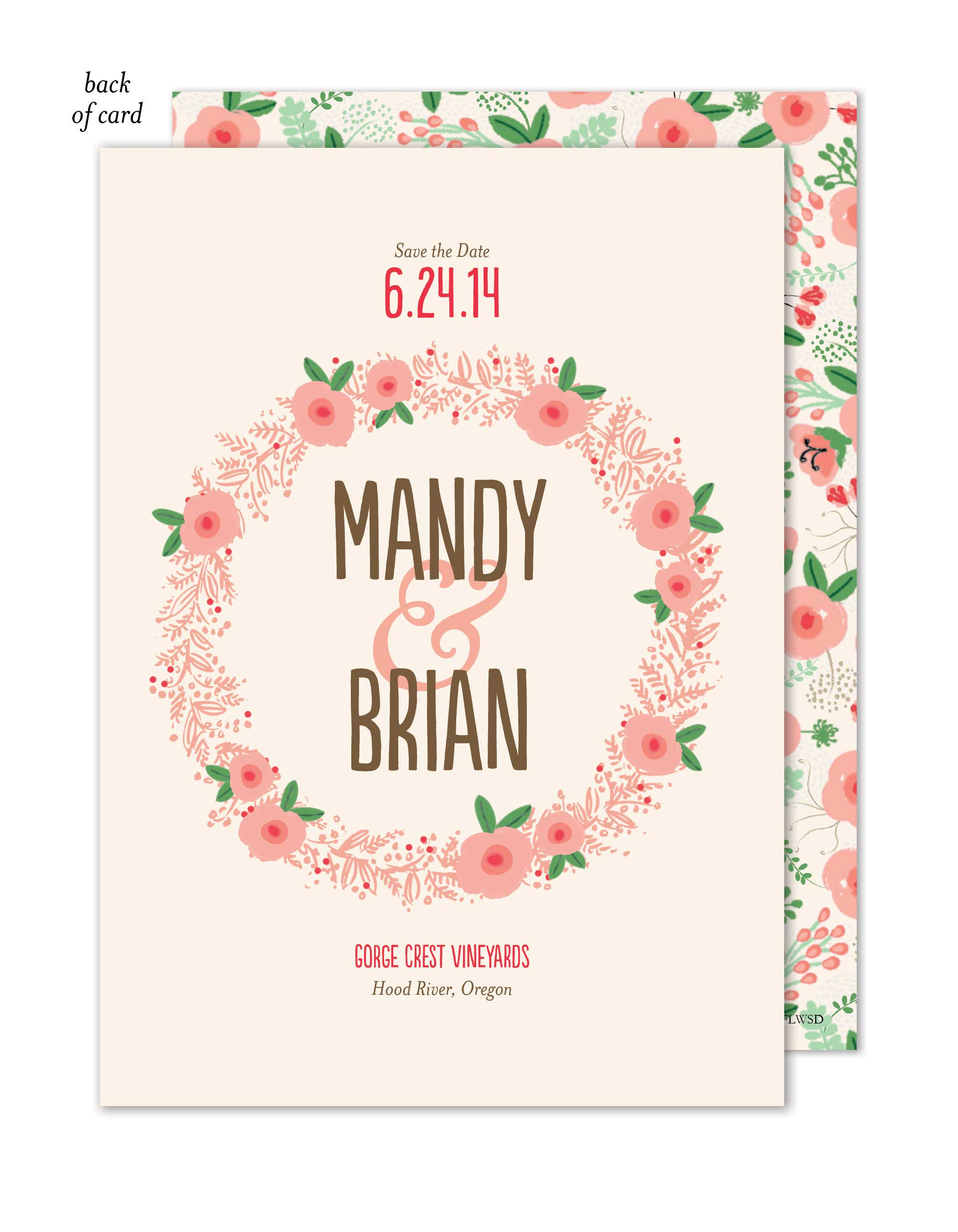Floral Wreath Wedding Suite Save the Date