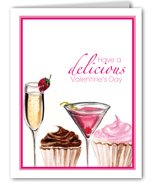 Valentine Cupcakes and Cocktails Card