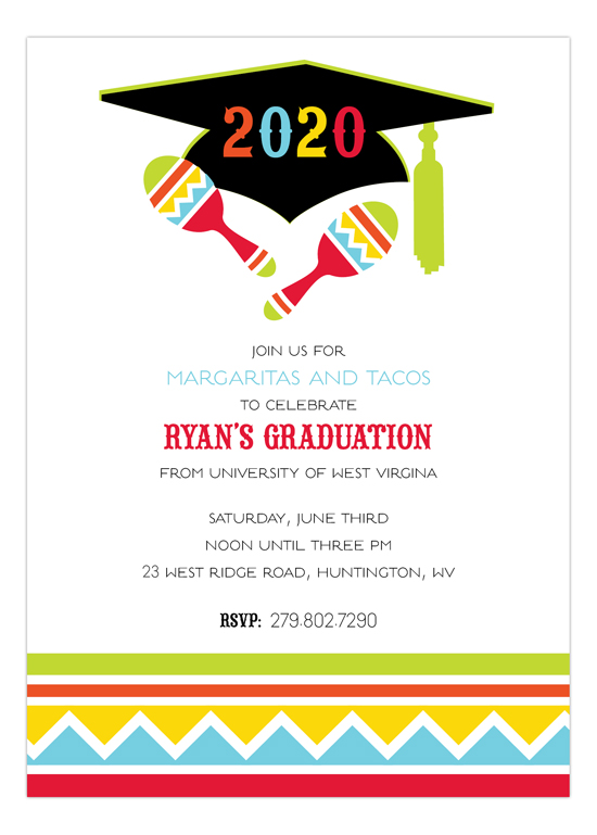 Fiesta Grad Invitation