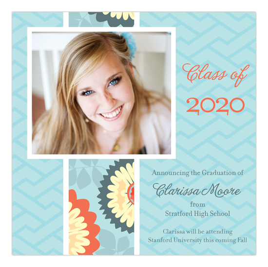 Garden Blooms Photo Card College Grad Announcements