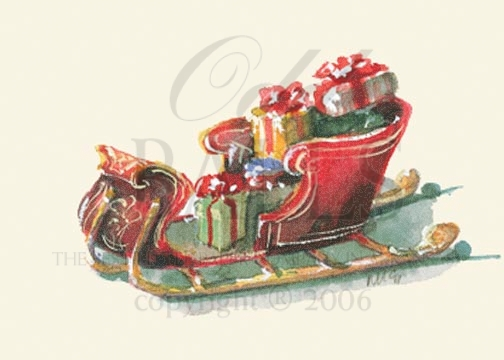 Sleigh Full Christmas Card