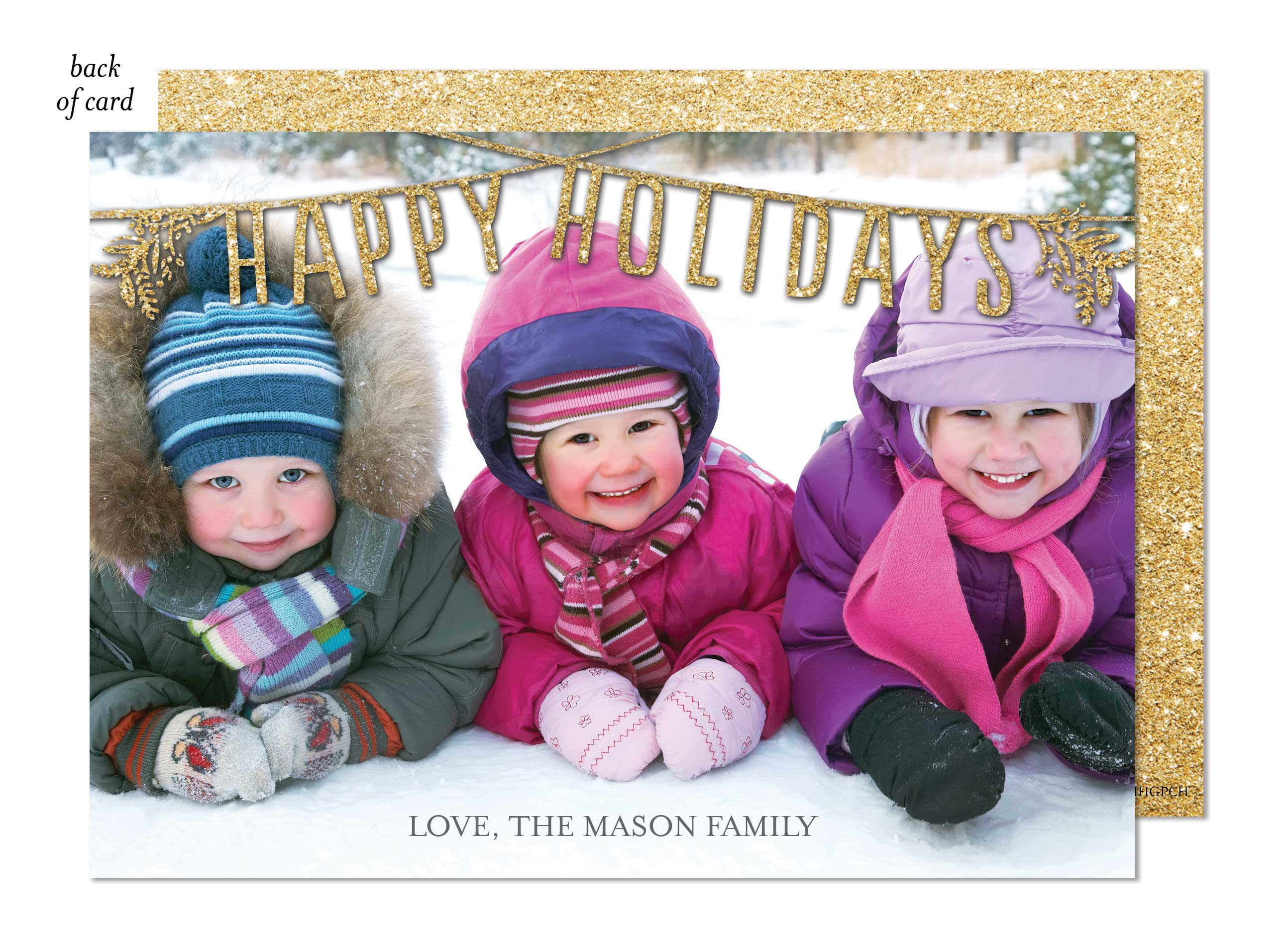 Happy Holidays Garland Photo Card