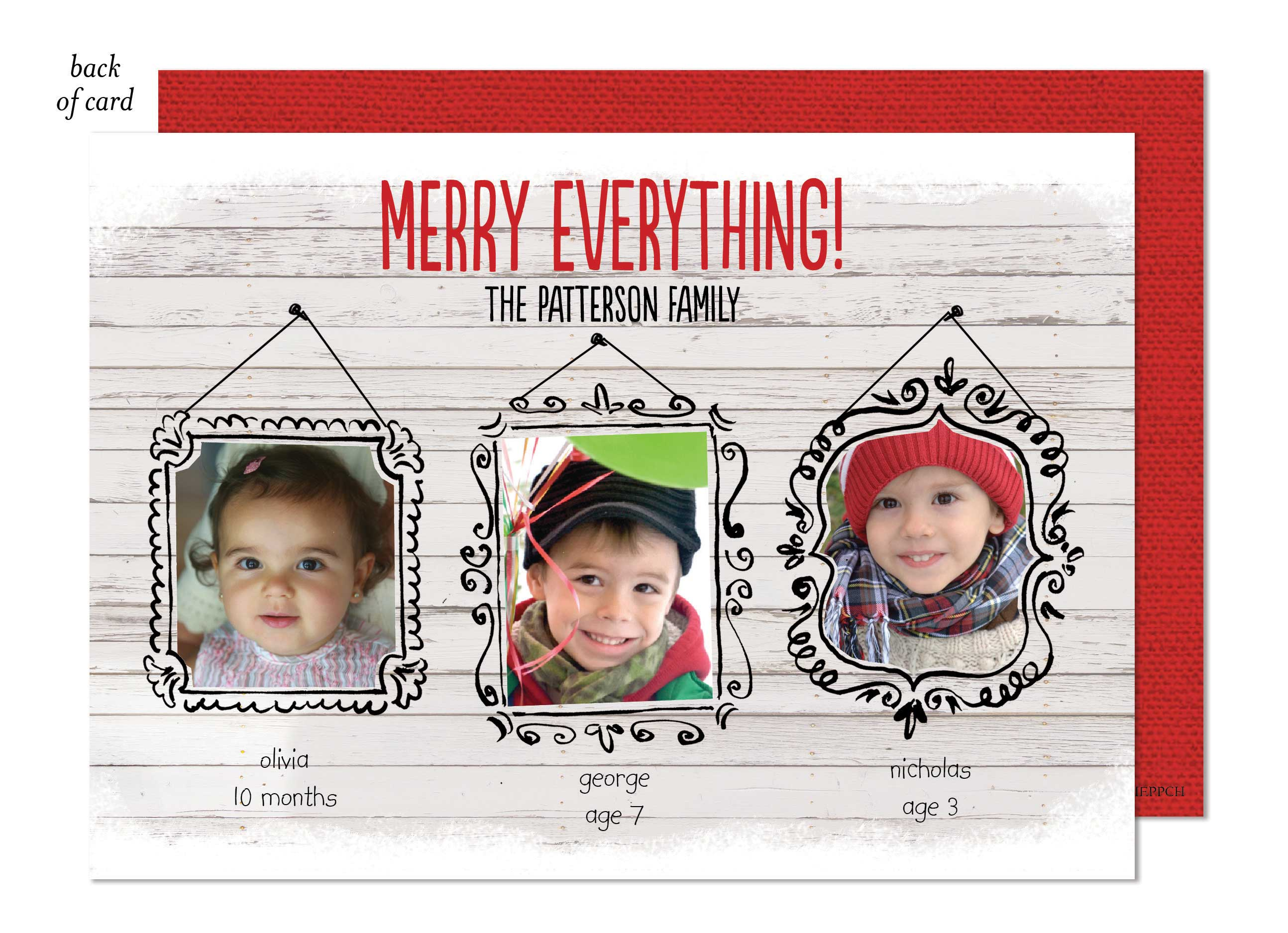 Merry Everything Portraits Photo Card