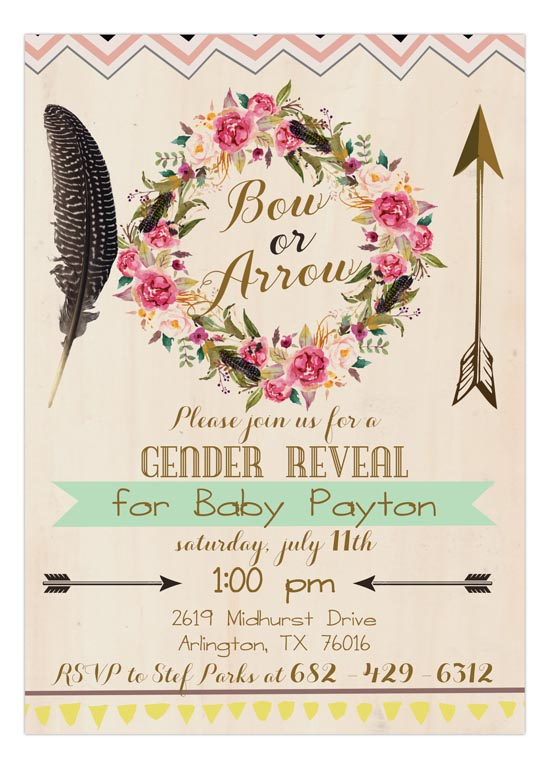 Bow or Arrow Gender Reveal Party