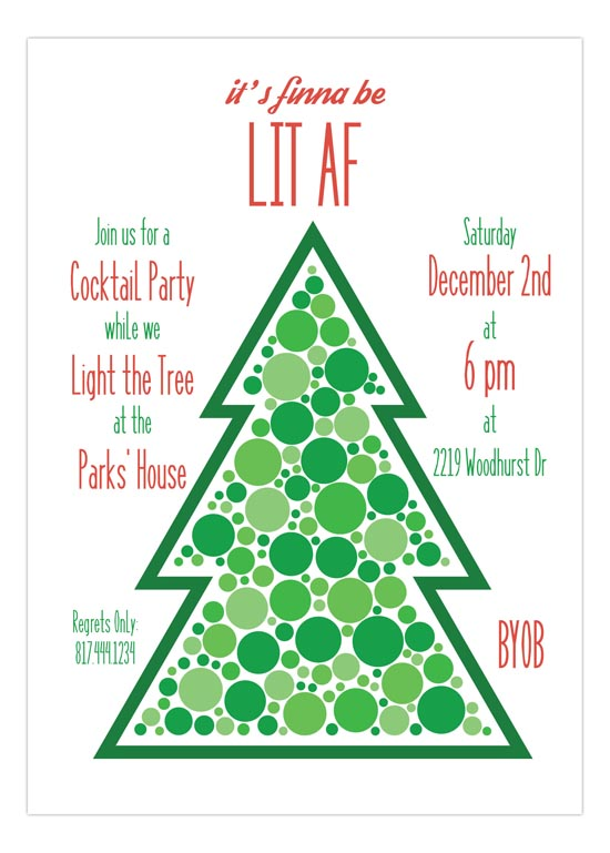 Lit AF Holiday Cocktail Party