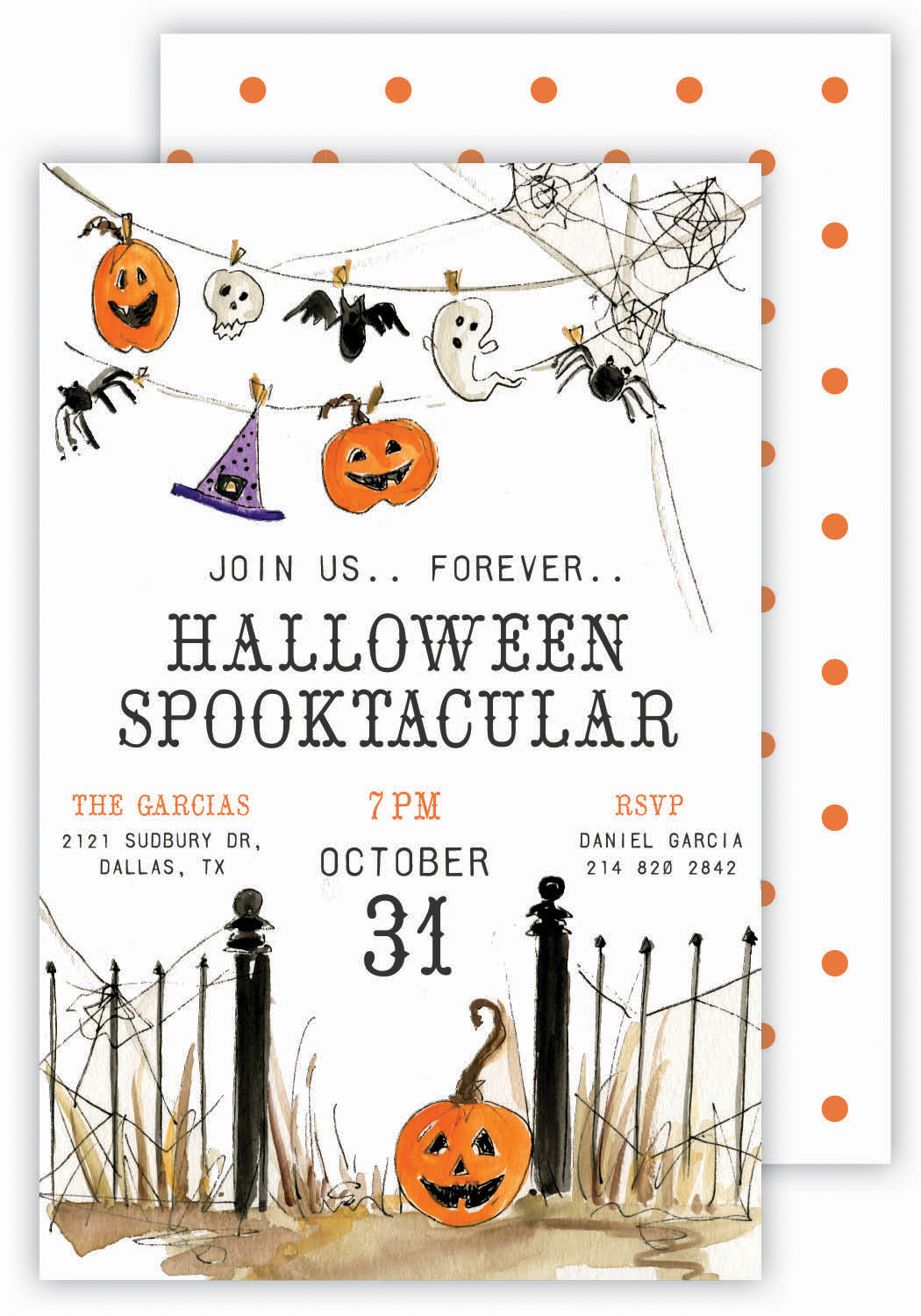 Banner Gate Halloween Invitation