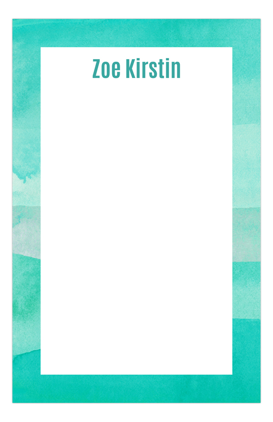 Watercolor Teals Cute Notepads