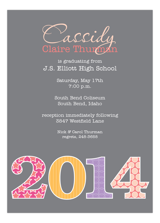 Girl Grad Year Invitation