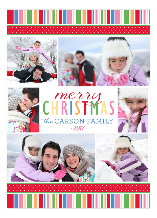 Holiday Style Collage Photo Card