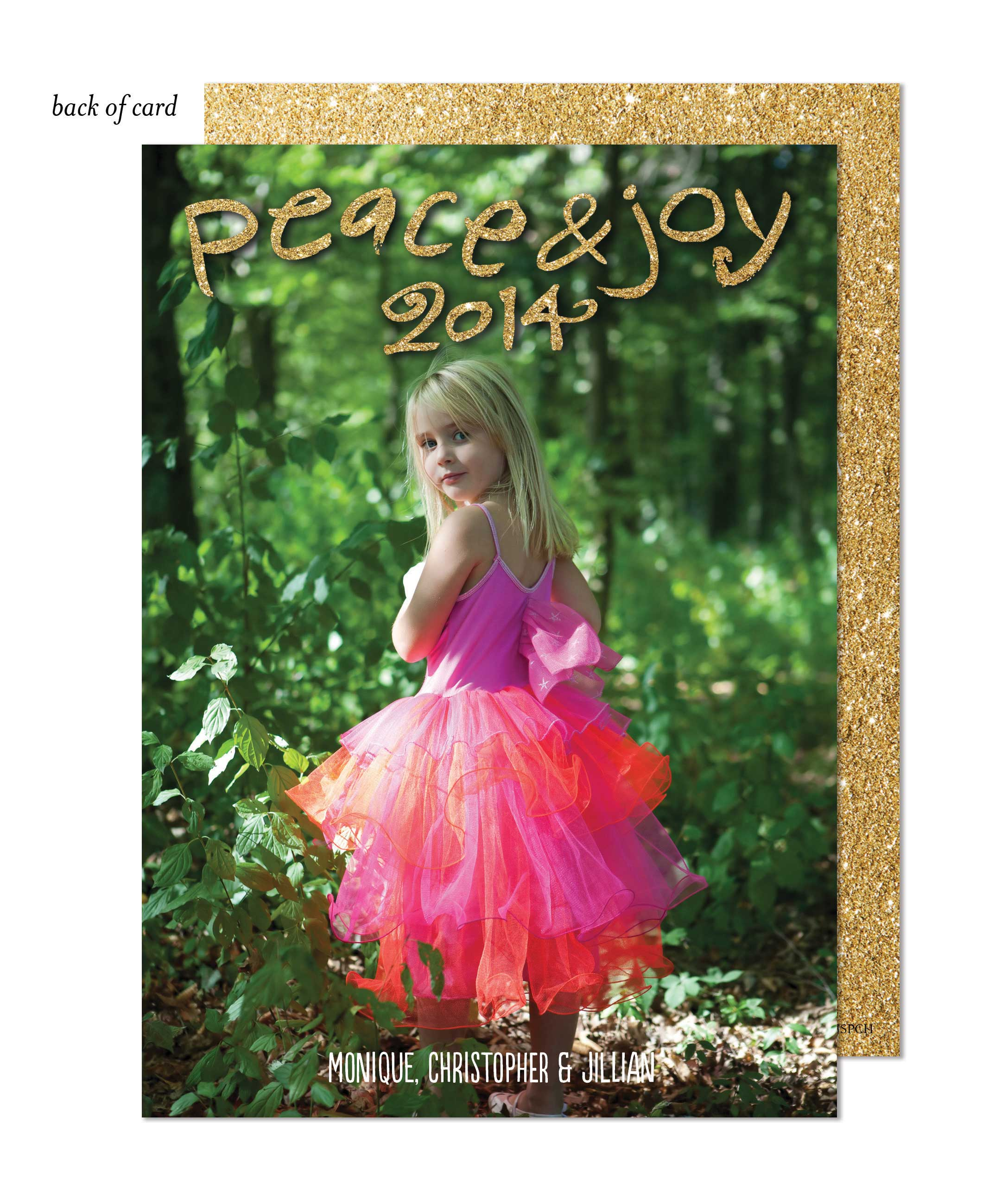 Peace and Joy Shimmer Photo Card
