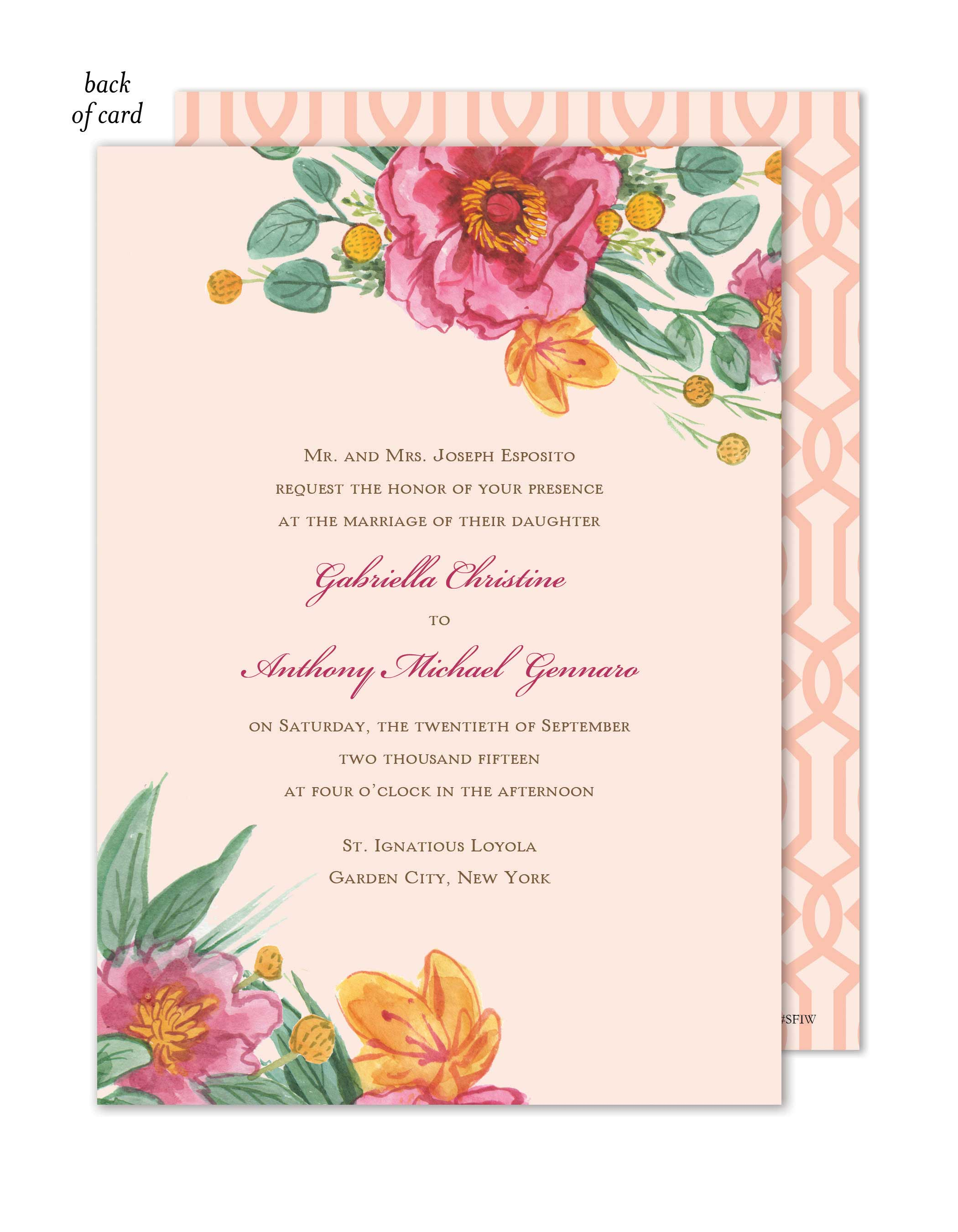 Simply Floral Wedding Suite Invitation