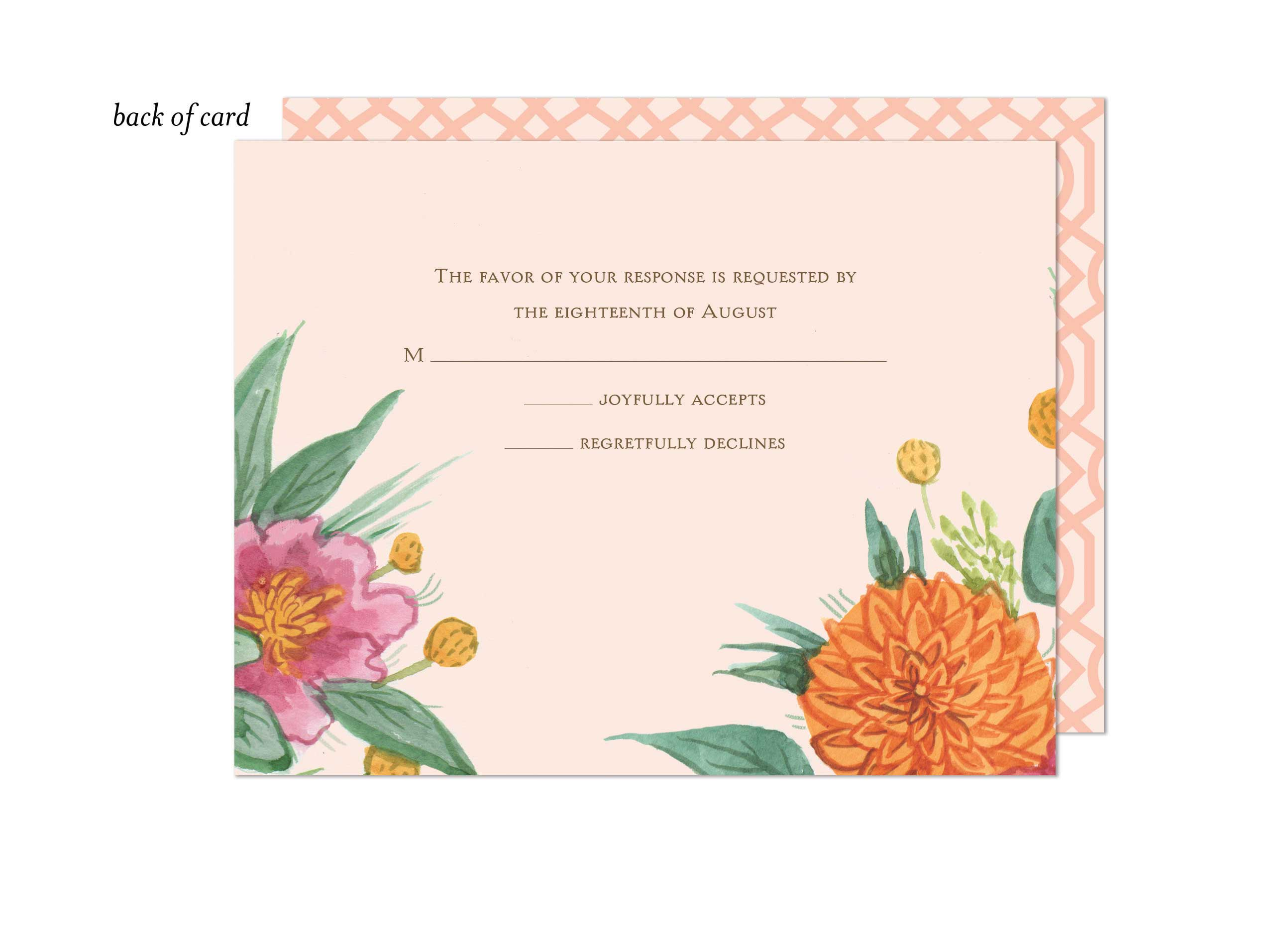 Simply Floral Wedding Suite Response Card