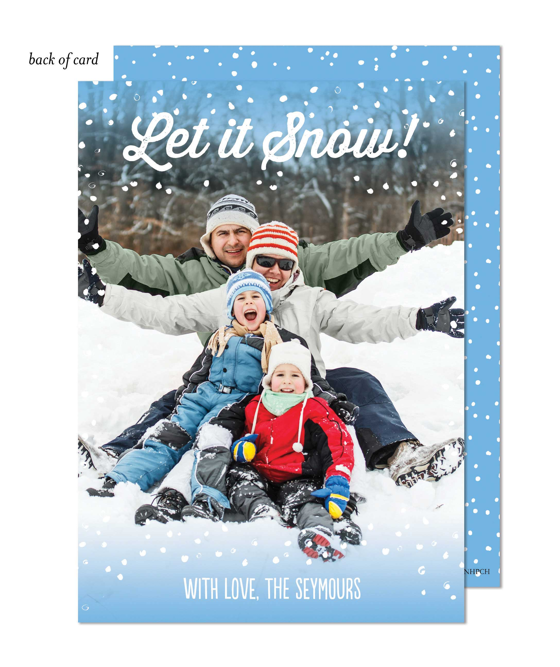 Snowy Holiday Photo Card