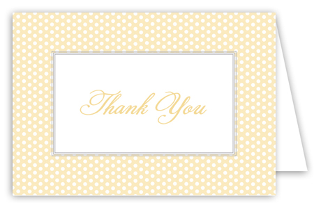 Yellow Polka Dots Thank You Card