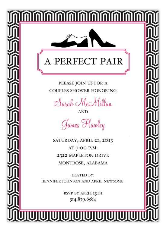 couples bridal shower Invitation