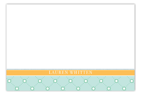 A Colorful Easter Aqua Flat Note Card