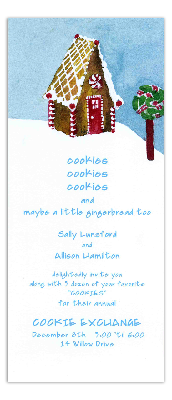 A-Frame Gingerbread House Invitations