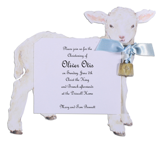 A Lamb with Blue Ribbon