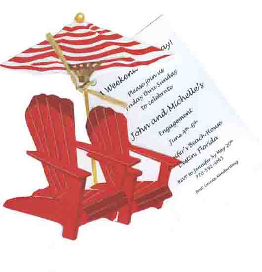 Adirondack Chair Invitation