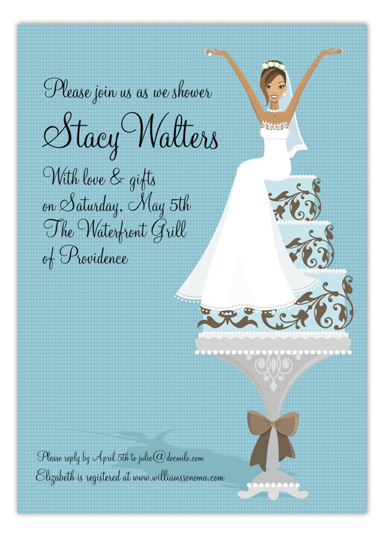 african-american-blue-cake-bride-invitation-dm-in180 African American Bridal Shower Invitations