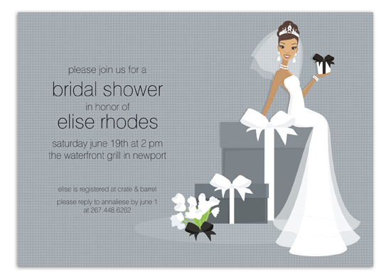 african-american-bride-on-gift-invitation-dm-in266 African American Bridal Shower Invitations