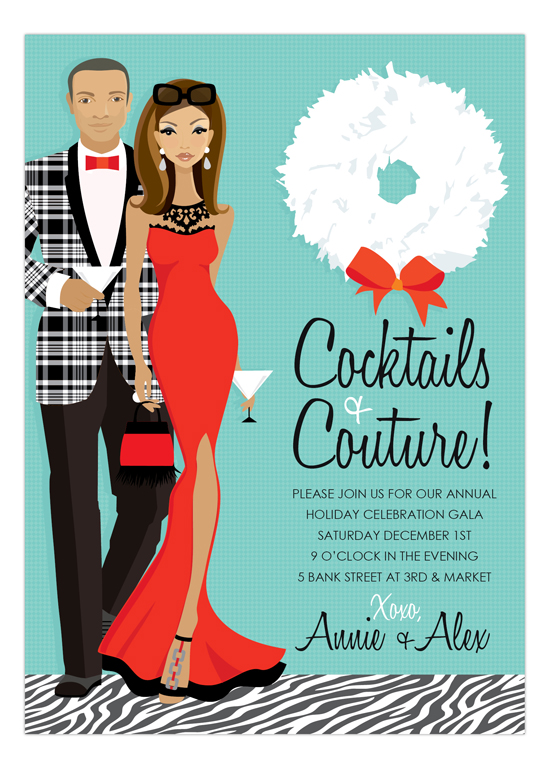 african-american-cocktails-couture-invitation-dmdd-np57hc1125dmdd African American Bridal Shower Invitations