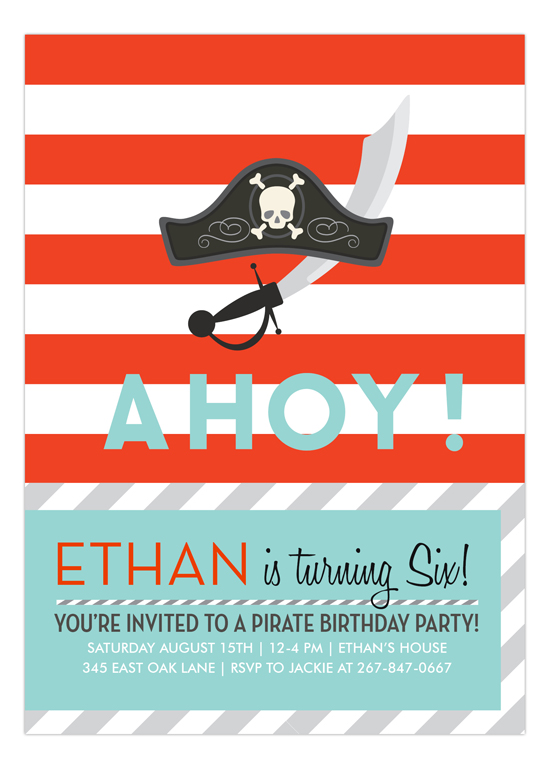 Ahoy Invitation